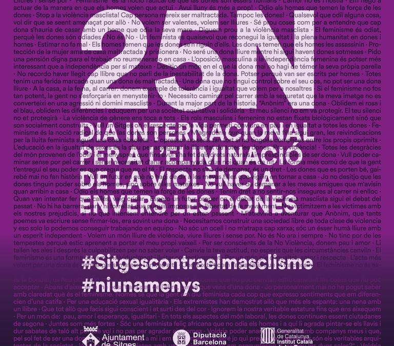 La veu de les dones ressonarà a Sitges el 25N