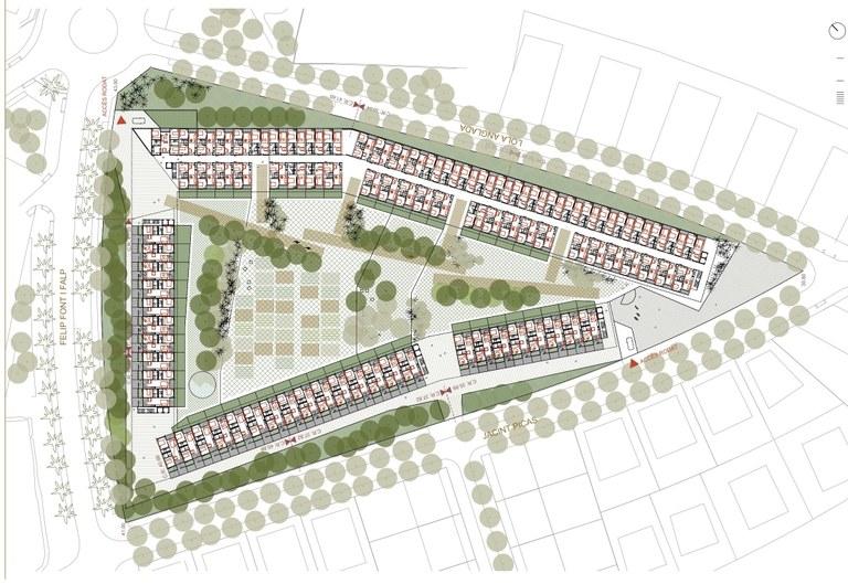 La proposta Sínium guanya el concurs d'idees per definir tres parcel·les d'habitatges de protecció oficial a La Plana