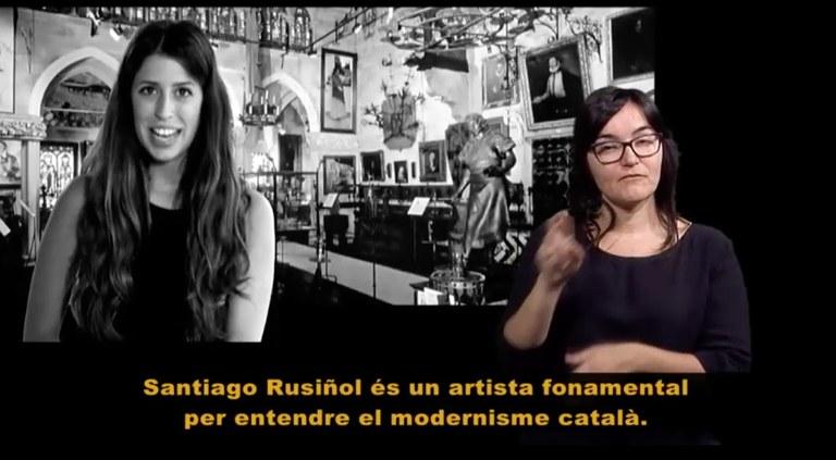 Els Museus de Sitges incorporen per primer cop la llengua de signes en un projecte audiovisual
