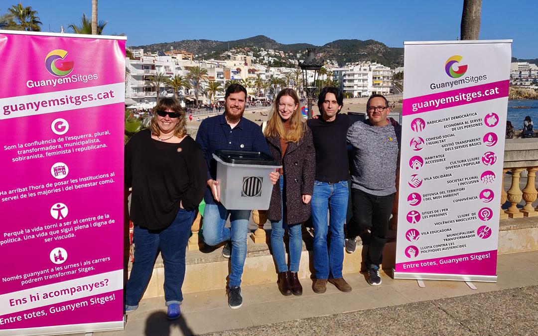 Guanyem Sitges presenta les 6 persones que encapçalaran la llista electoral, amb Xavier  Salmerón al capdavant
